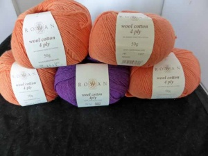 Rowan Wool Cotton 4 Ply - 5 Mixed Balls