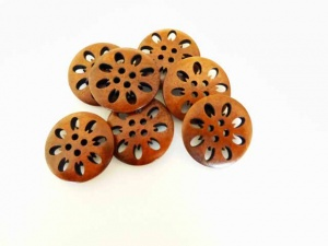 Wooden Snowflake Buttons